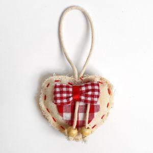 Мягкая игрушка-подвеска «Сердце в клетку», с бантиком, цвета МИКС