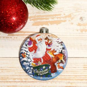 """Магнит """"Новый год и Рождество.Шар: """"Дед Мороз"""" 7х9см   4558306"""
