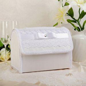 "Коробка для денег ""Ампир"", белая, разборная 3042006"