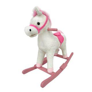 Лошадка-качалка 74 см, мелодия, звук галоп., открывает рот, машет хвостом,  эл.пит.AA*3шт. не вх.в комплект