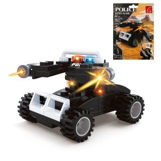 Конструктор серии Полиция, Машина, 62 дет.,пакет