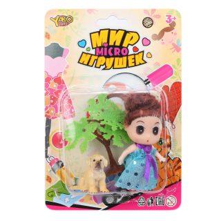 Кукла 9 см с питомцем, 1 аксессуар, в ассорт., блистер