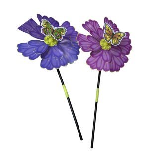 Вертушка Бабочка на цветке, 49 см