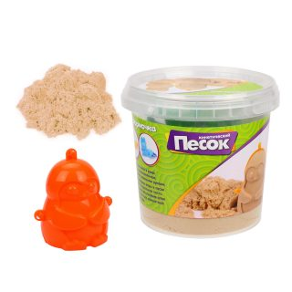 Кинетический песок 0,5 кг, цвет Классический, 3D формочка