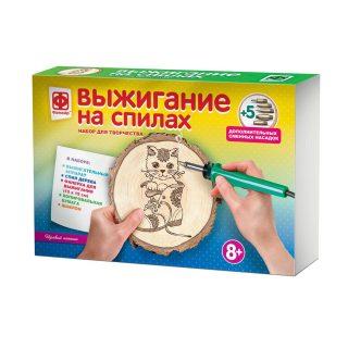 Прибор для выжигания на спилах Игривый котенок