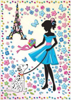 Набор для изг-ния картины Мон Ами Девушка с собакой