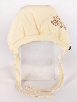 Чепчик с вышивкой р.36 желтый