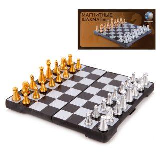 Шахматы настольные, магнитные, поле 16см*16см, кор.