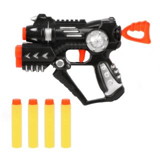 Бластер с держателем для 2-х пуль, м/пули 4шт.