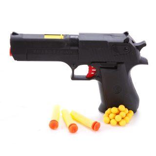Пистолет, м/пули с присосками 3шт., м/пули шарики 20шт.