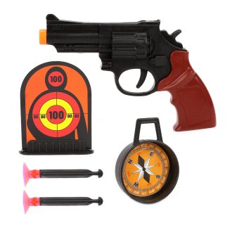 Игр.набор Полиция, револьвер, стрелы с присосками 2шт., мишень, компас, пакет