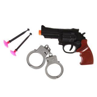 Игр.набор Полиция, револьвер, стрелы с присосками 2шт., наручники, пакет