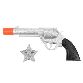 Игр.набор Шериф, револьвер эл., звук щелчка, значок, эл.пит.AG13/LR44*3шт.не вх.в комплект