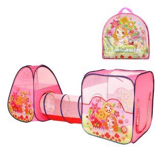 Палатка игровая c туннелем Цветочный рай