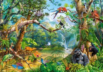 Пазлы 500 Жизнь в джунглях