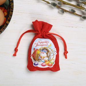 Пасхальный мешочек с пожеланиями «Пасхальная композиция»