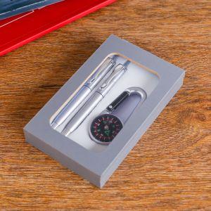 Набор подарочный 3в1 (2 ручки, карабин-компас) 450922