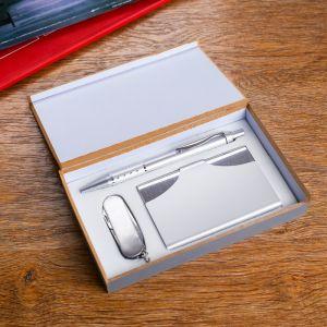 Набор подарочный 3в1 (ручка, визитница, нож 3в1) 611233