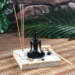 "Сад Дзен ""Медитация"" с аромапалочкой 9,5х12х12 см   2319884"