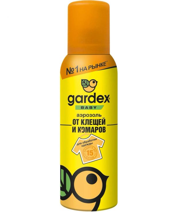 Аэрозоль Gardex Baby детский от клещей и комаров на одежду 100 мл