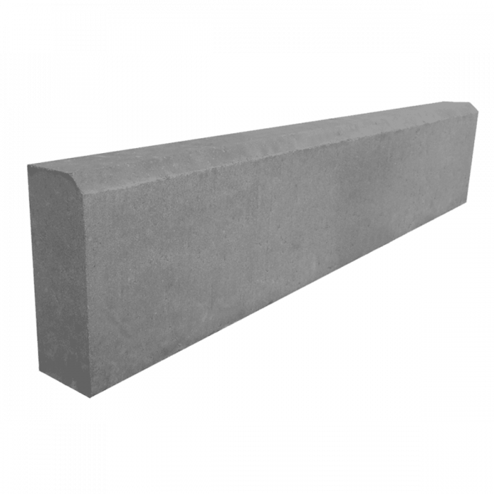 Камень бордюрный садовый (серый), 1000х200х80 мм
