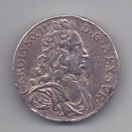 2 марки 1699 года Карл XII Швеция