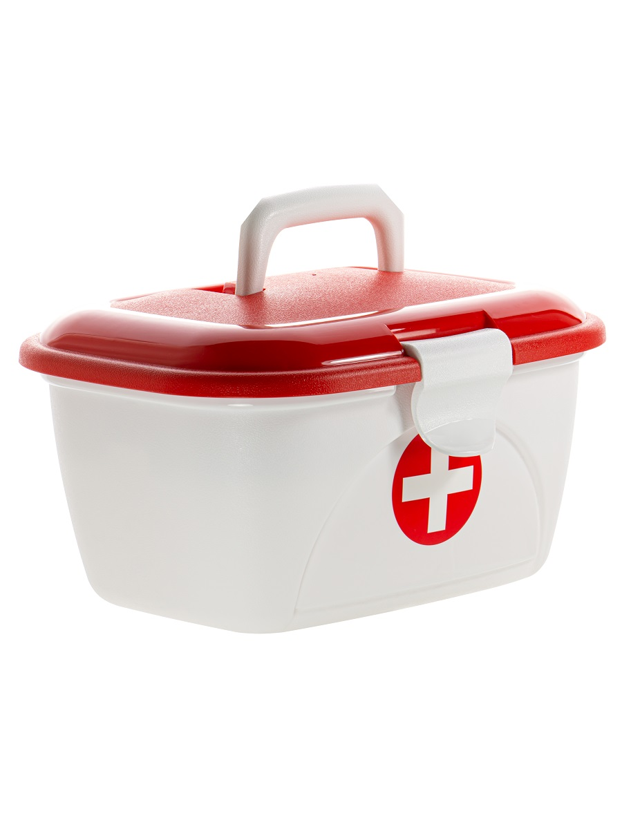 Пластиковый контейнер для хранения Star Box Аптечка Эльфпласт белый 35х26х21,5 см