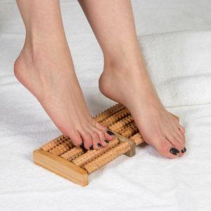 Массажёр для ног «Барабаны», 5 рядов, деревянный