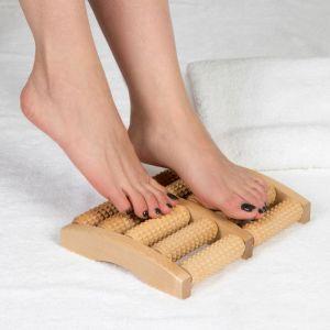 Массажёр «Счёты», деревянный, 5 рядов, большой