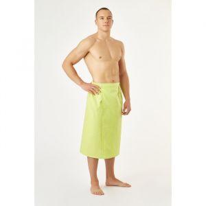 Полотенце вафельное для бани «Экономь и Я» (мужской килт), 75х144см, цвет салатовый