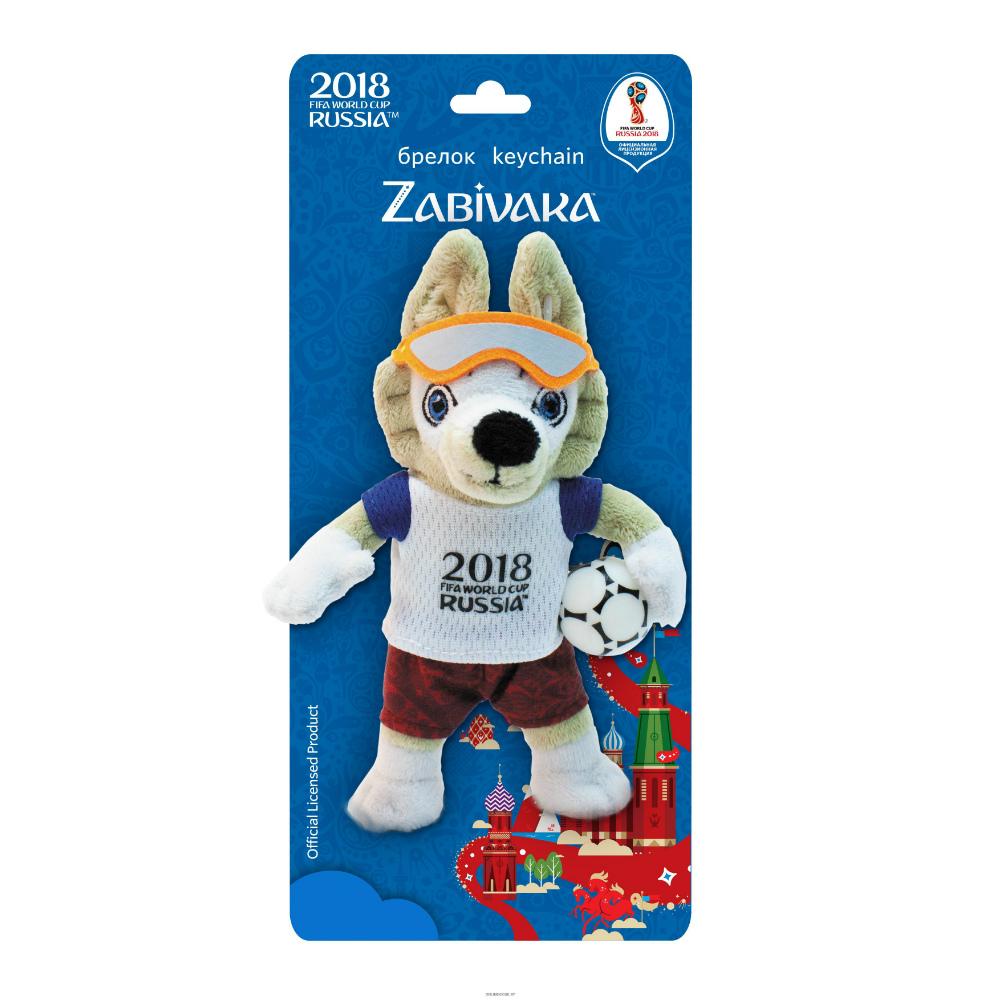 FIFA-2018 Плюшевый Zabivaka 16 см брелок, на карте