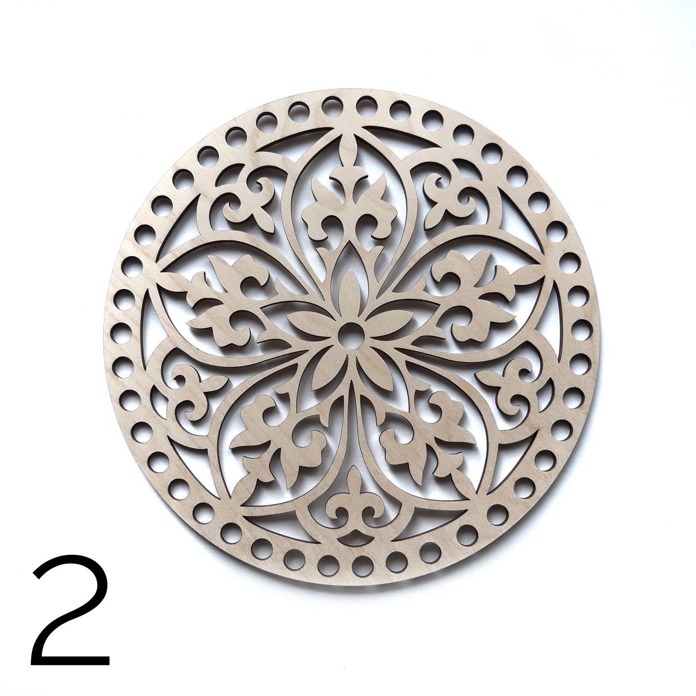 Круг резной фанера 4 мм 19 см 2
