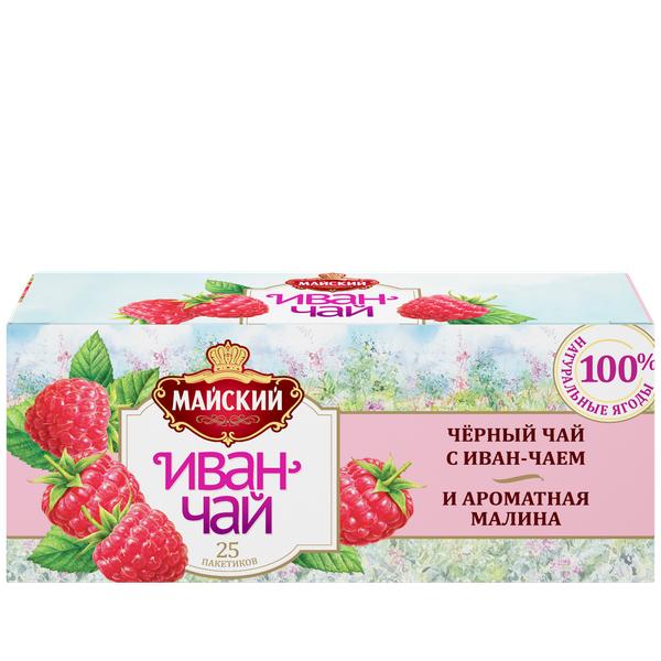 Чай Майский Иван-чай с малиной 25пак*1.5г
