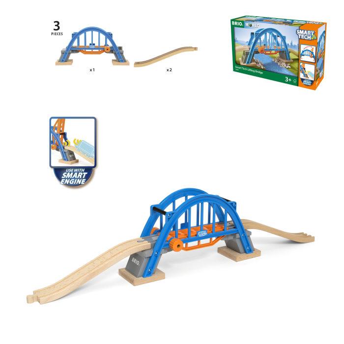 BRIO Smart Tech Игровой набор Мост, 3 элемента 66,6х9,5х15,4 см., кор. 32х20х10 см.