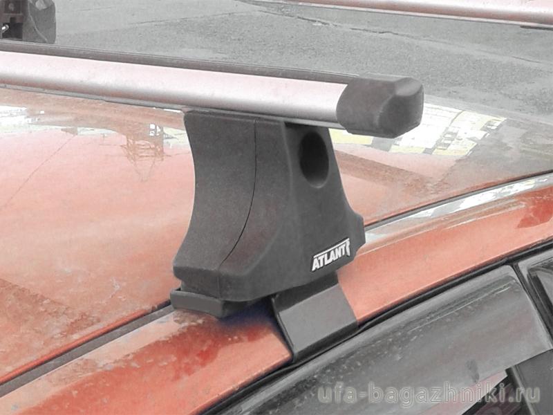 """Багажник на крышу Ford Focus 1, Атлант, аэродинамические дуги """"Эконом"""""""