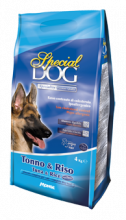 SPECIAL DOG корм для взрослых собак тунец с рисом, 15 кг