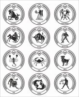 Значки из дерева знаки зодиака