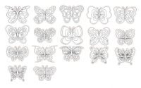 Значки из дерева бабочки