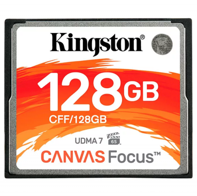 128GB Карта памяти Compact Flash Kingston Canvas Focus (130/150 MB/s)