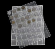 Лист для коллекционирования монет прозрачный на 42 ячейки с клапанами
