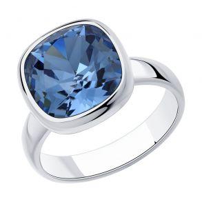 Кольцо из серебра с кристаллом Swarovski 94013179 SOKOLOV