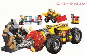 Конструктор BELA Cities Тяжелый бур для горных работ 10875 (Аналог LEGO City 60186) 312 дет