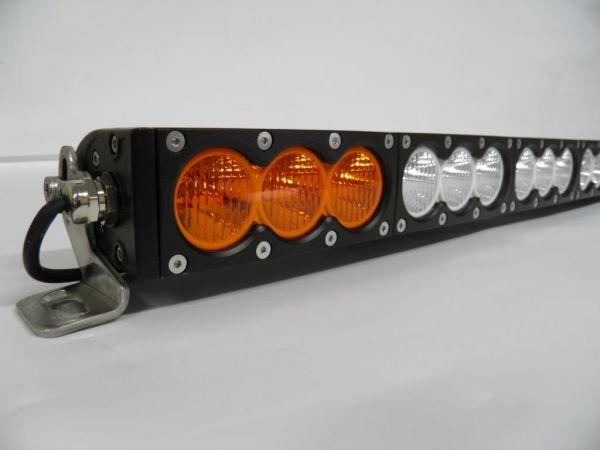 Однорядная комбинированная светодиодная балка белого и янтарного свечения V10 300W