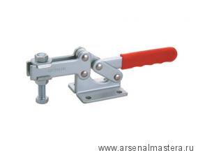 Зажим механический с горизонтальной ручкой усилие 630 кг, прижим 80мм, база 45мм GOOD HAND GH-204-GB