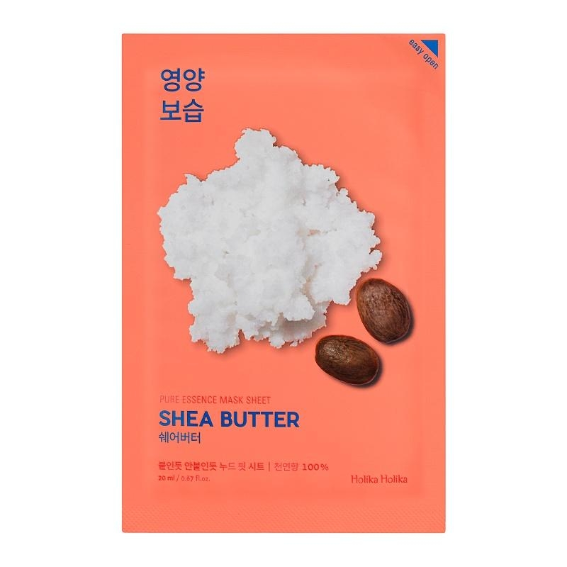 Питающая тканевая маска для лица с маслом ши Holika Holika Pure Essence Mask Sheet - Shea Butter