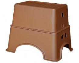 Табурет-подставка коричневый