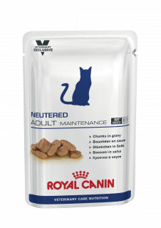 Влажный ветеринарный корм для кошек Royal Canin Neutered Maintenance (Ньютрид Мейнтененс пауч) 85г.