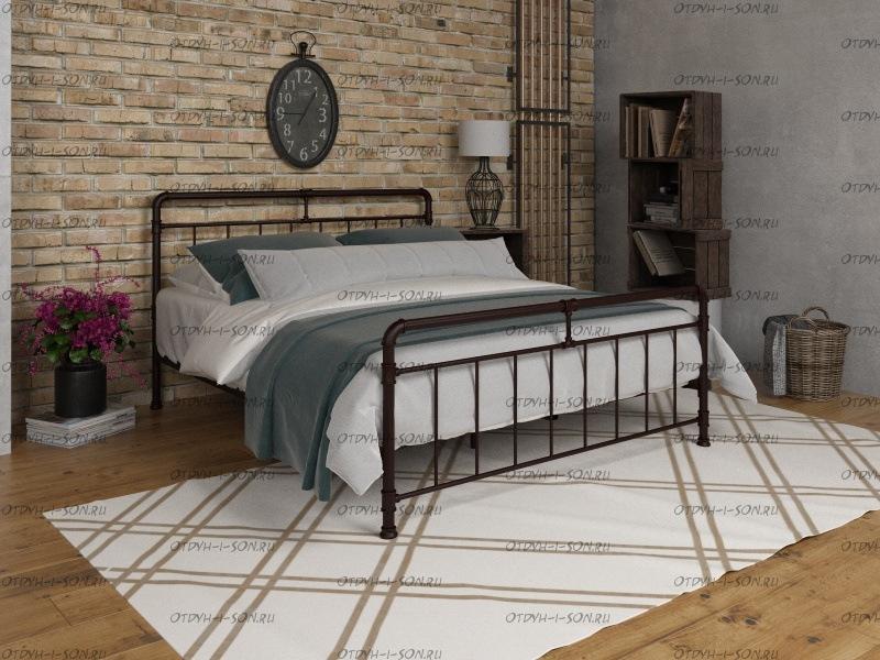 Кровать металлическая с ортопедическим основанием Авила Лофт