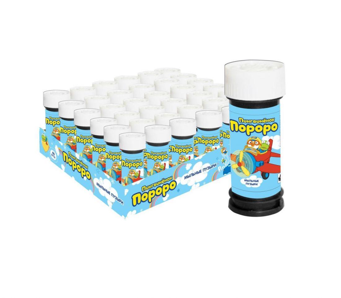 1toy Пингвинёнок Пороро, мыльные пузыри, 50 мл, в корытце