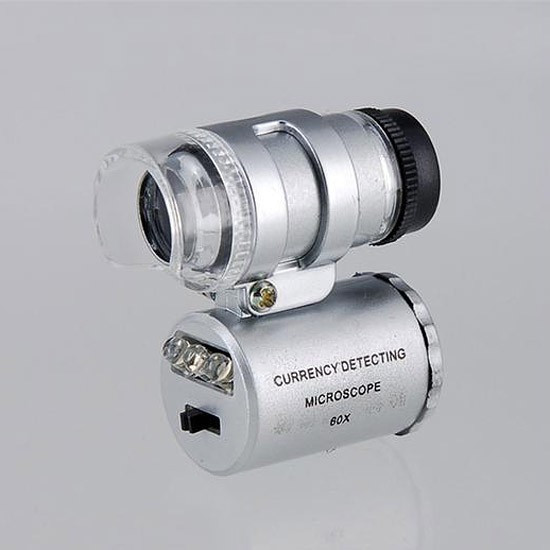 Мини-микроскоп 60 крат с LED подсветкой